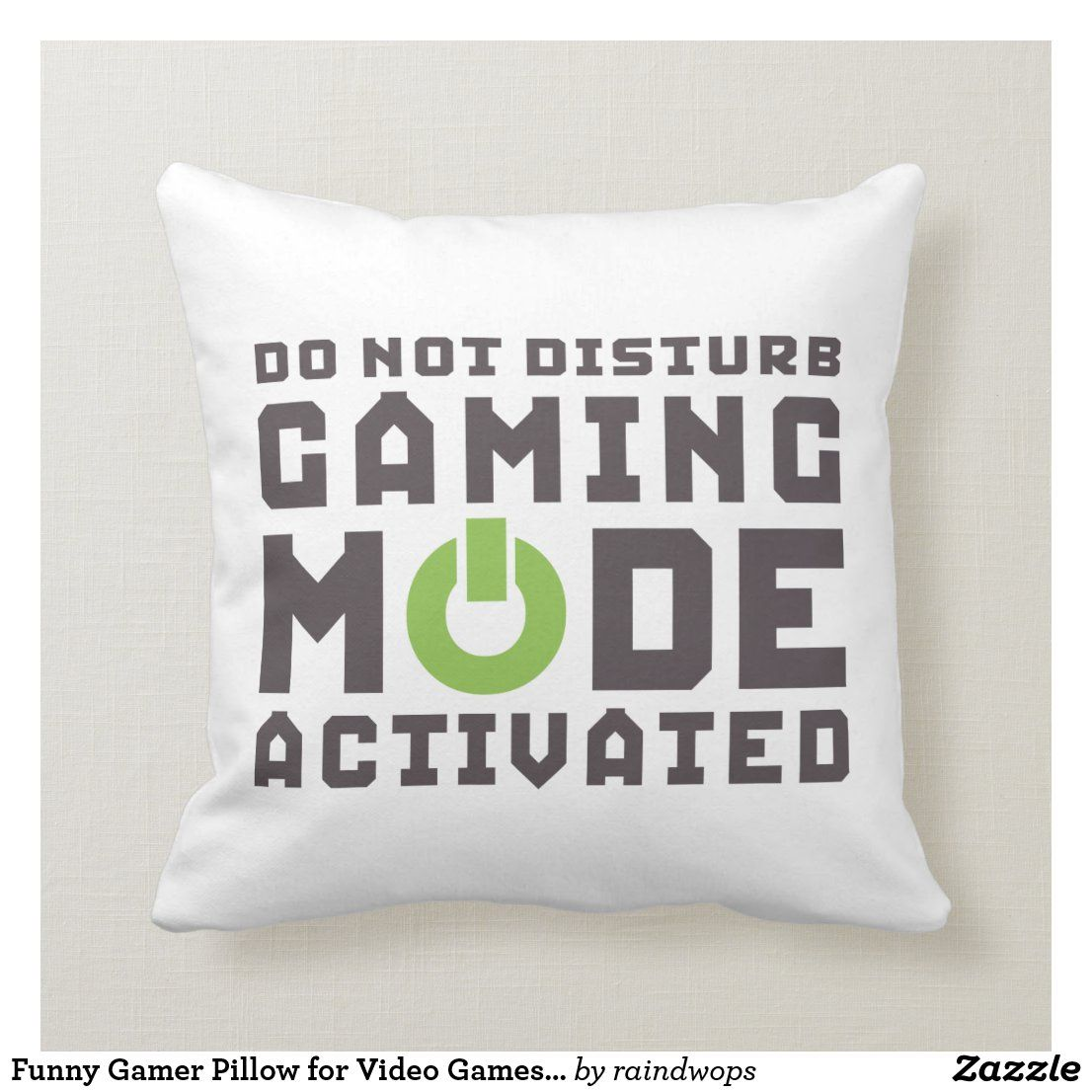 Cool and fun pillow with funny and humorous gamer quotes. Do not disturb. Gaming mode activated. Perfect gift for video games lovers, gaming pro, gamer, your geek and nerd friends.