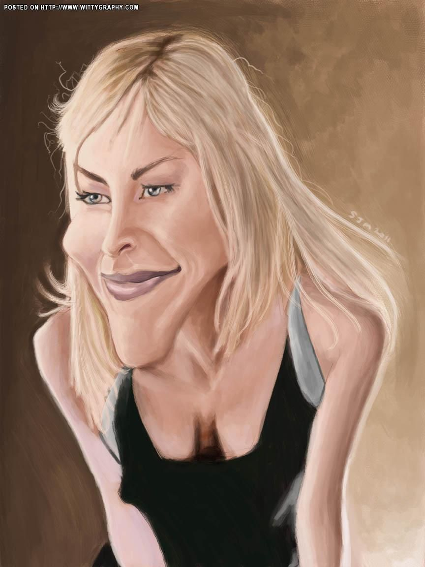 Image result for sharon stone caricature