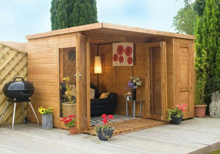 Outdoor she shed get away