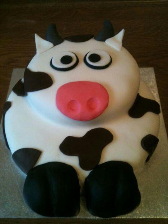 Cow Birthday Cake Hallie Pinterest Cow Birthday Cake Cow