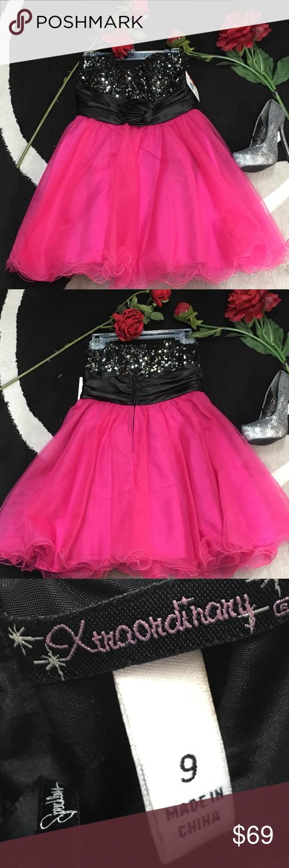 Xtraordinary pinkblack formal dress size pinterest pink black