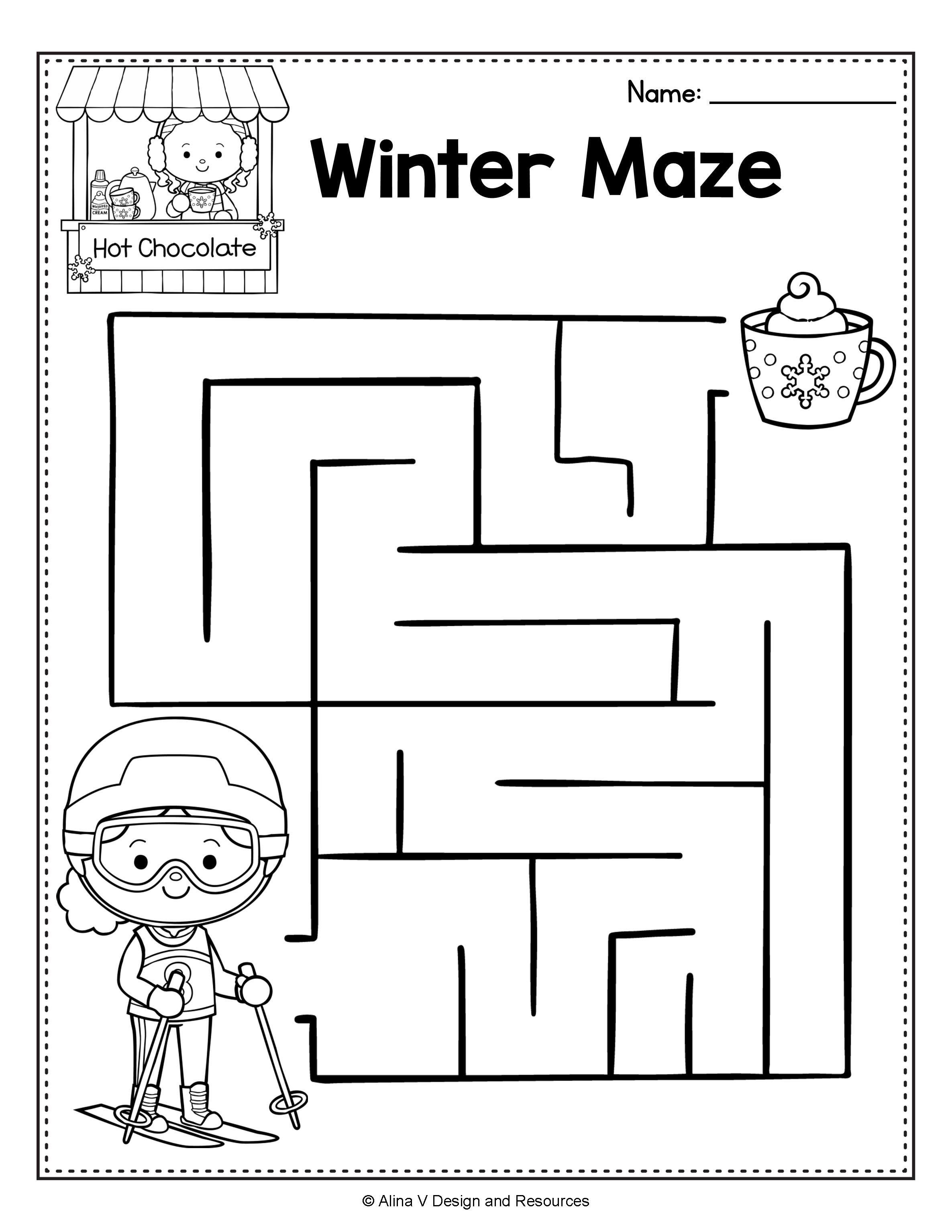 After Winter Break Activity Math Worksheets For Preschool January Morning Work Winter Activities Preschool Winter Songs For Preschool Preschool Winter Worksheets [ 3069 x 2371 Pixel ]