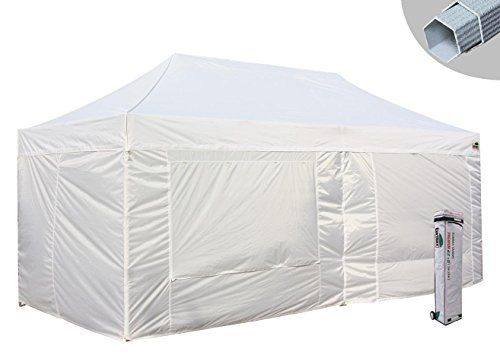 Cheap Eurmax Premium 10x20 Pop Up Canopy Commercial Tent Instant Shelter With 4 Zipper Sidewalls And Roller Bag D Best Tents For Camping Tent Sale Tent Camping
