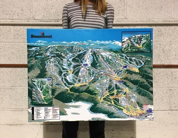 Steamboat Resort Map | Realtor Gift | Colorado ski resorts ...