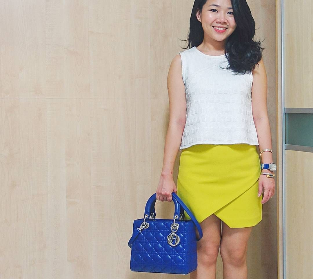 95337293d0 instagram: @quennandher | Lady DIOR blue bag | Street Style. Look of the day.  Outfit of the day. What I Wore. Designer Bag.