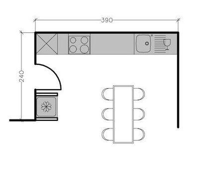 Plan cuisine en ligne ou lin aire les meilleures for Cuisine lineaire 3 metres