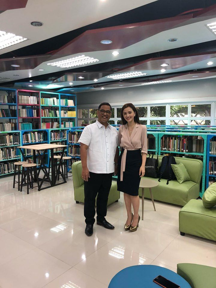 Deniece Cornejo visits the DOST new library for her first