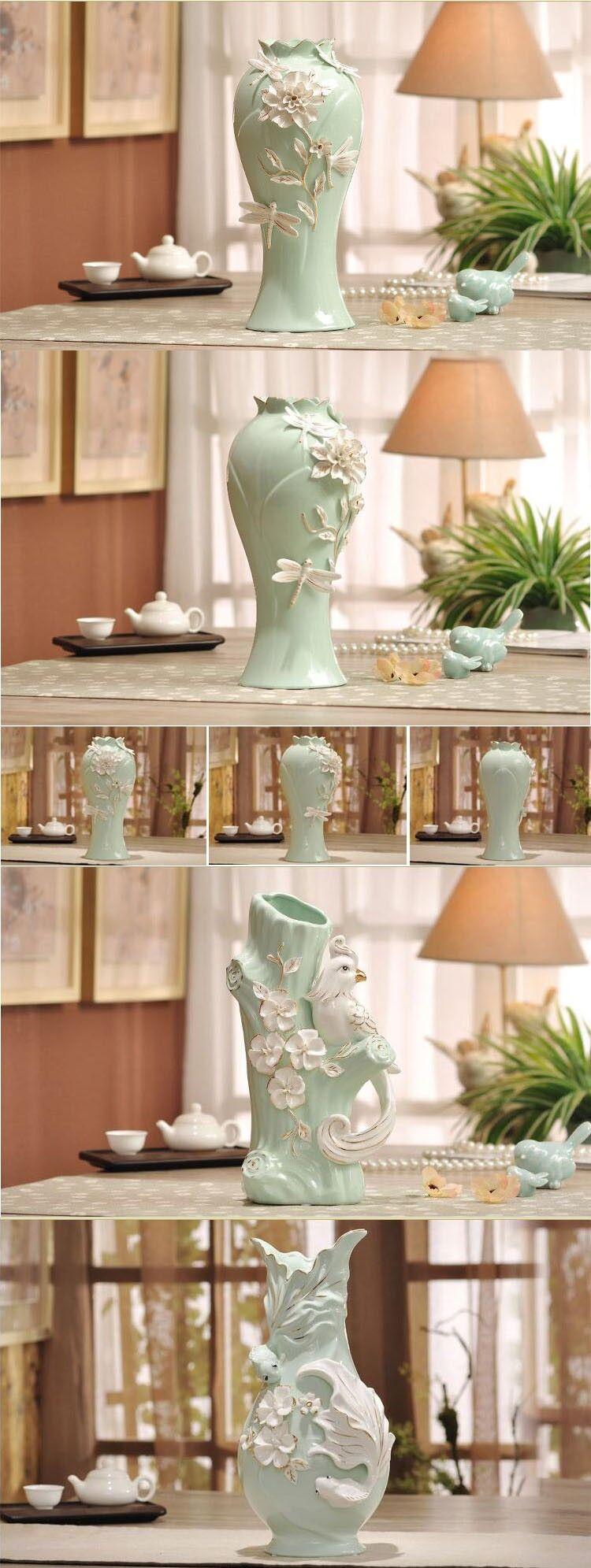 Modern exquisite sculpture elephant green cream ceramic vase modern exquisite sculpture elephant green cream ceramic vase custom design accepted view ceramic vase reviewsmspy