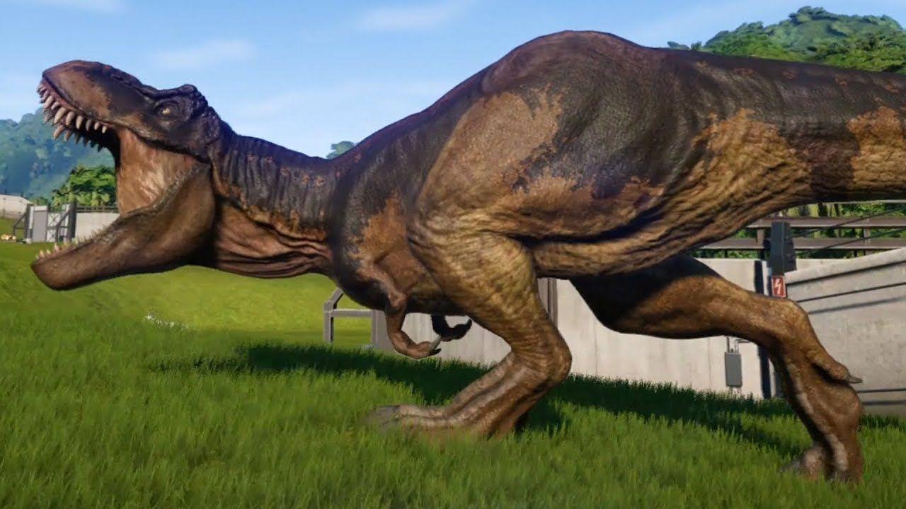 Jurassic World Evolution Tyrannosaurus Rex Steppe Skin Gameplay Ps4 Jurassic Park World Jurassic World Dinosaurs Jurassic Park