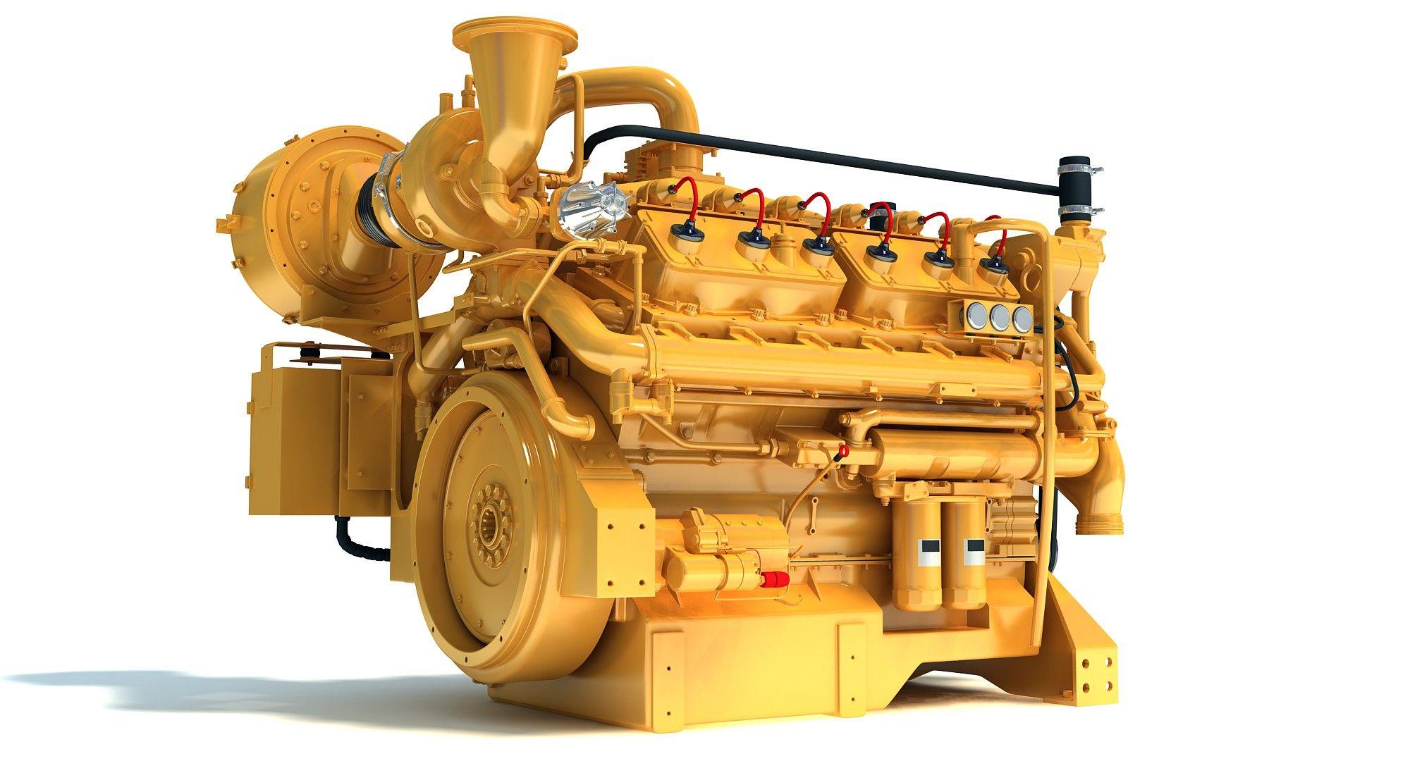 Caterpillar Cat Gas Generator 3d Model Gas Generator 3d Model Gas