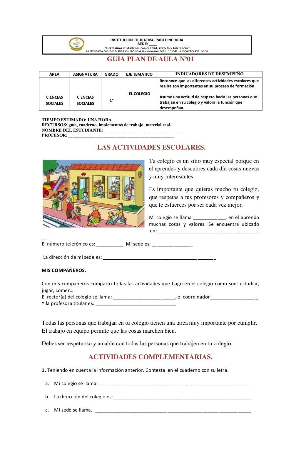Institucion Educativa Pablo Neruda Ciencias Sociales Tecnicas De Enseñanza Aprendizaje Ciencias Sociales Primaria