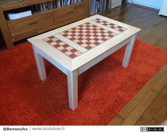 Table Basse Echiquier Par Benwouha Table Basse Table Mobilier De Salon