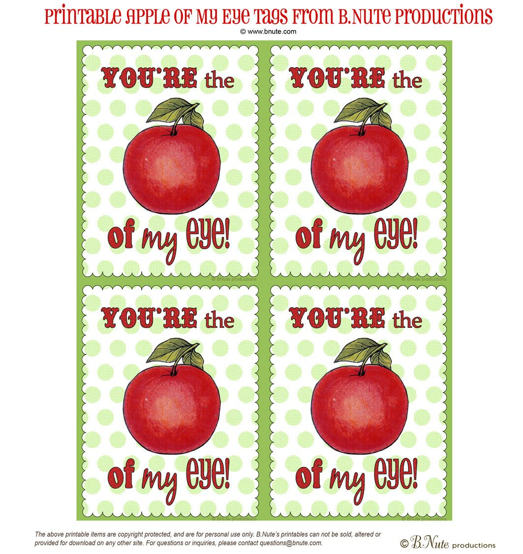 Free Printable Apple Of My Eye Tags Free Printables Apple Printables