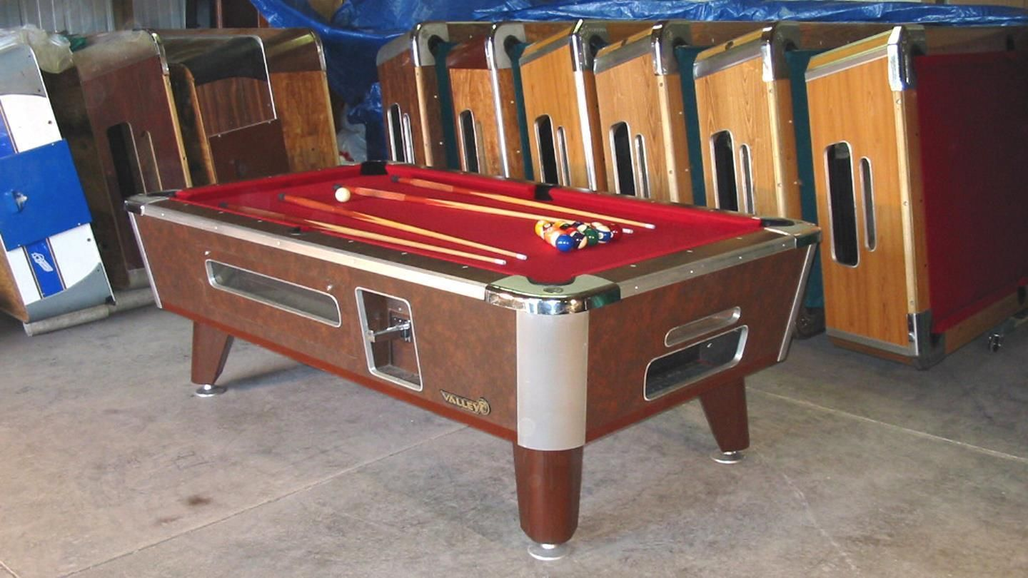 Valley Cougar 6 1/2u0027 Coin Op Bar Size Comm. Pool Table