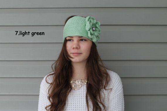 Headband. Head wrap.Earwarmer. Crochet women's by LilyBooCreations