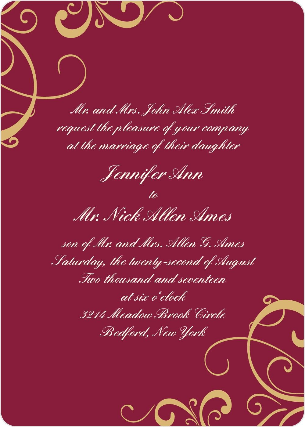 Simple Swirls Foil Wedding Invitation | Photo wedding invitations ...