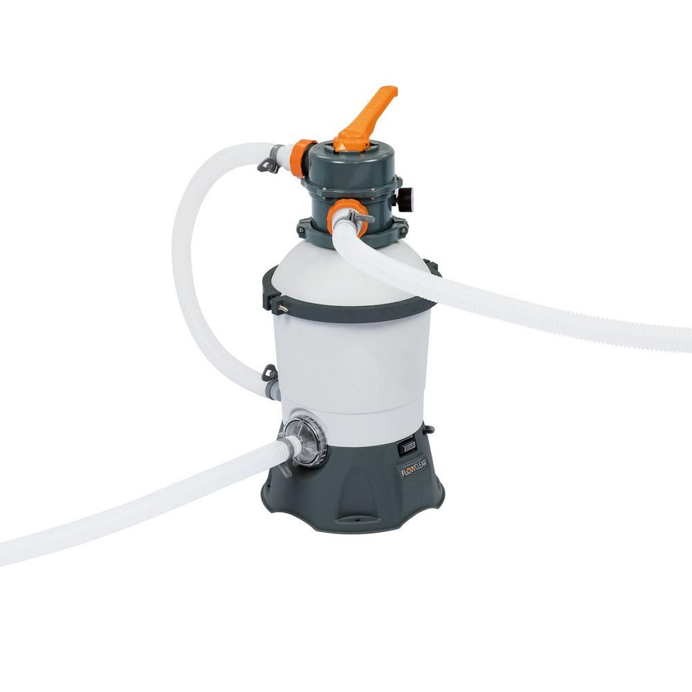 Bestway 530 Gph Silica And Sand Swimming Pool Filter Pump In Gray