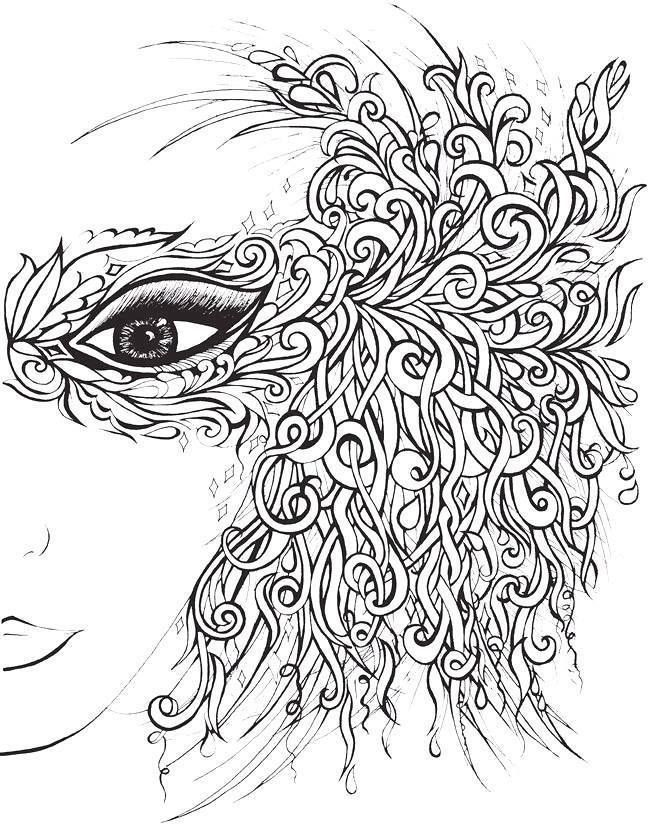 coloriage coloring woman femme masque | printable & pictures to ...