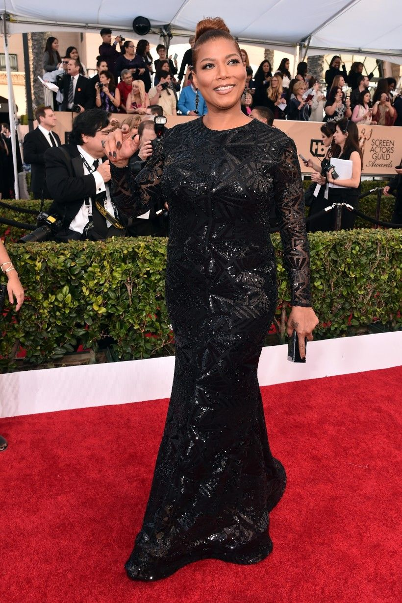 Coc Roter Teppich Queen Latifah In Michael Costello 22nd Annual Screen Actors