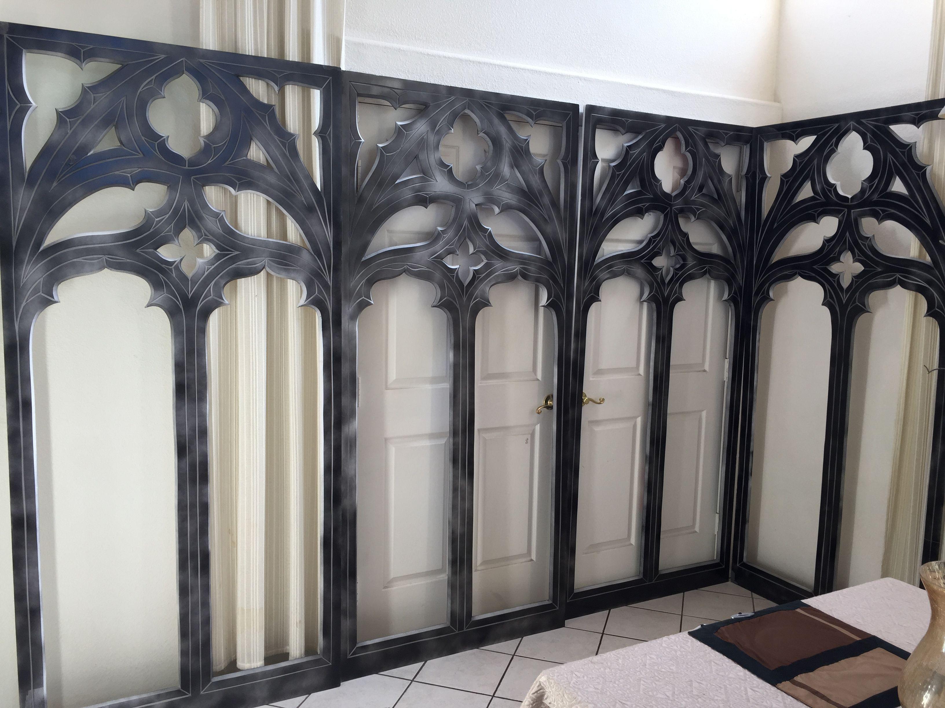 Magalie Sarnataros Props Gothic Windows Foam Boards,