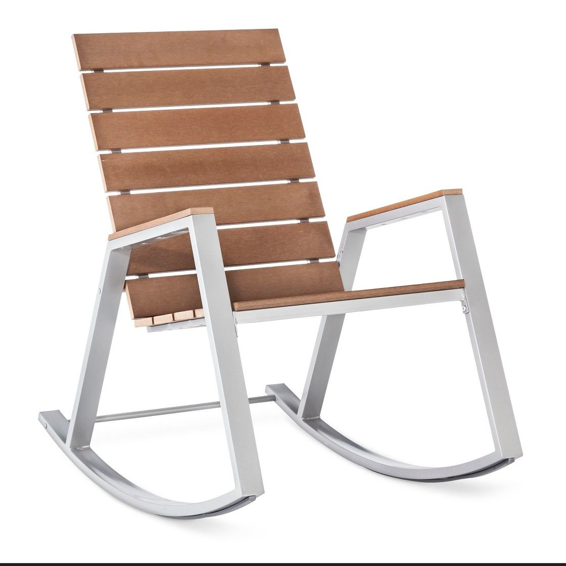 Threshold Bryant Faux Wood Patio Rocker Patio Furniture Collection Wood Patio Faux Wood