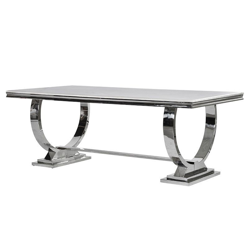 Cream Marble and Chrome Dining Table with U Shaped Legs  : cacc8032c08776b8296c45111f6afb66 from www.pinterest.com size 800 x 800 jpeg 39kB