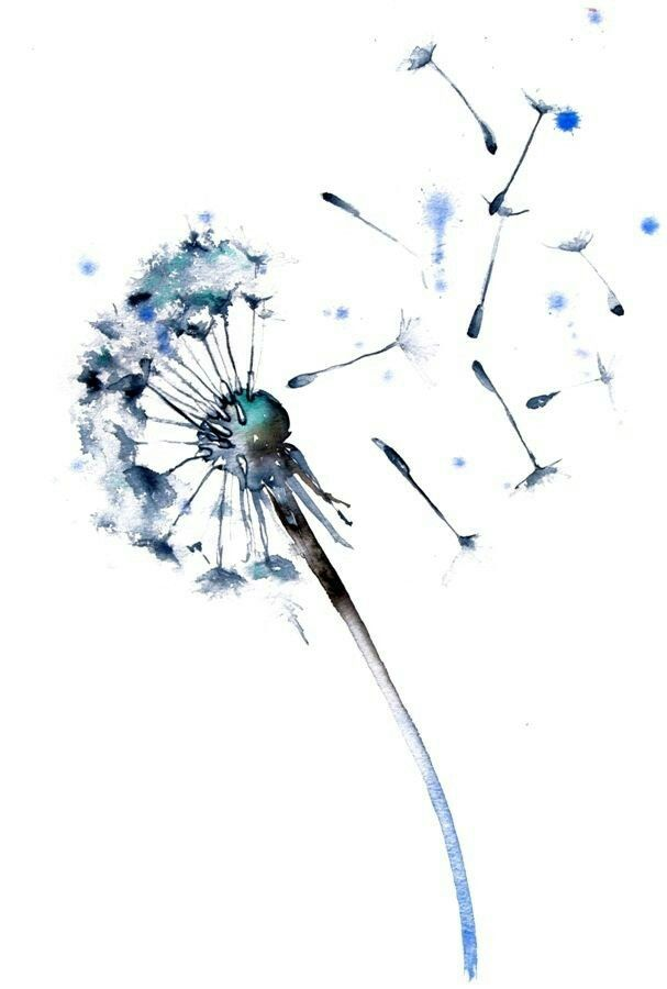Dandelion Watercolor Dandelion Tattoo Dandelion Tattoo Art