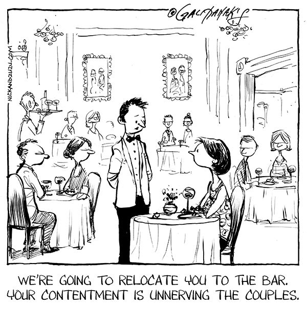 Image result for dining alone cartoon