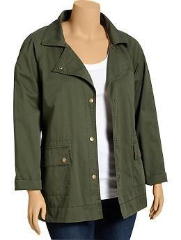 50b6515c049 Women s Plus Twill Utility Jackets