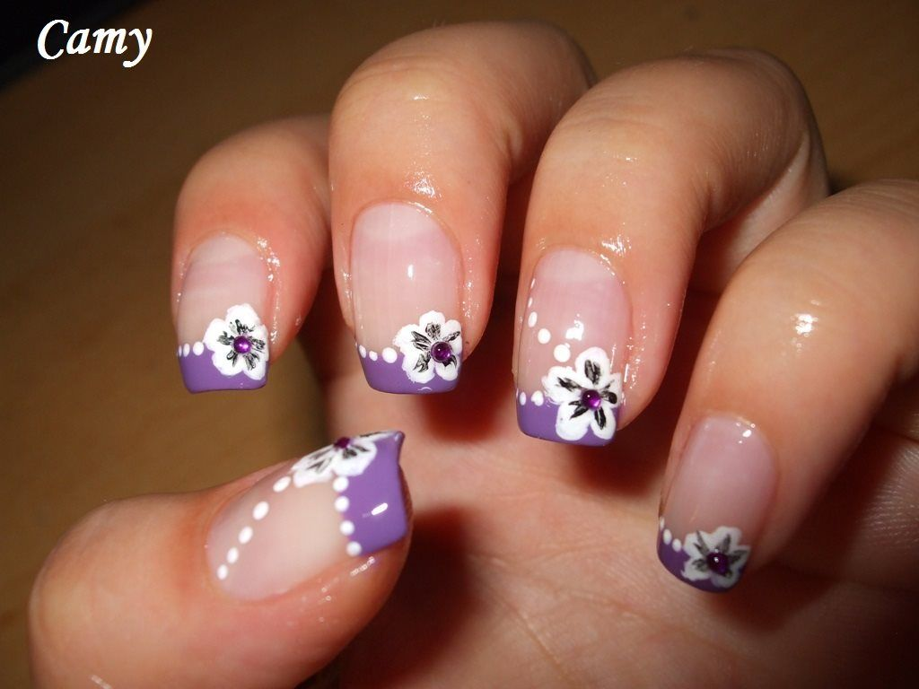 manicures with traditional french tip designs, funky french and