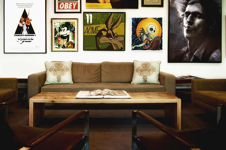 Spaces vintage posters and iconic artwork to enliven modern