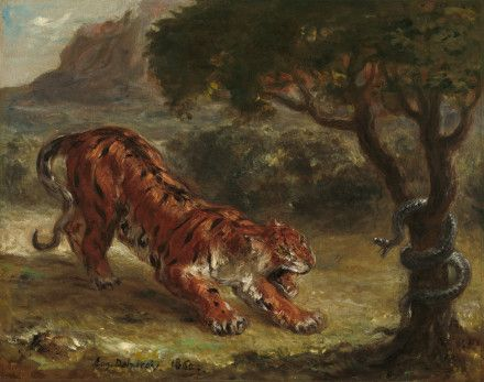 Tiger and Snake by Eugene Delacroix at National Gallery of Art