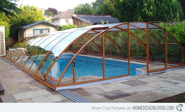 15 Stylish Pool Enclosure For Year Round Pool Usage Home Design Lover Pool Enclosures Indoor Pool Design Round Pool