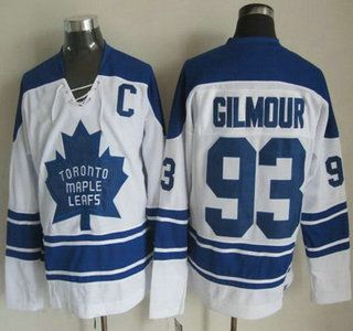 69da6bd3d ... Toronto Maple Leafs Jersey 93 Doug Gilmour 1966-67 White CCM Vintage  Throwback Jerseys .