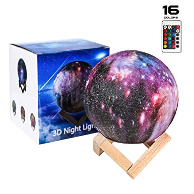 Night Light Segoal 16 Colors Led 5 9 Inch Star Night Light 3d Print Moon Lamp With Stand Touch Remote Control Star Night Light Night Light Kids Led Color
