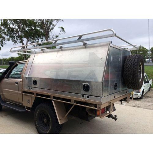 Aluminium Canopy With Roof Racks Doors Amp Spare Tyre Mount