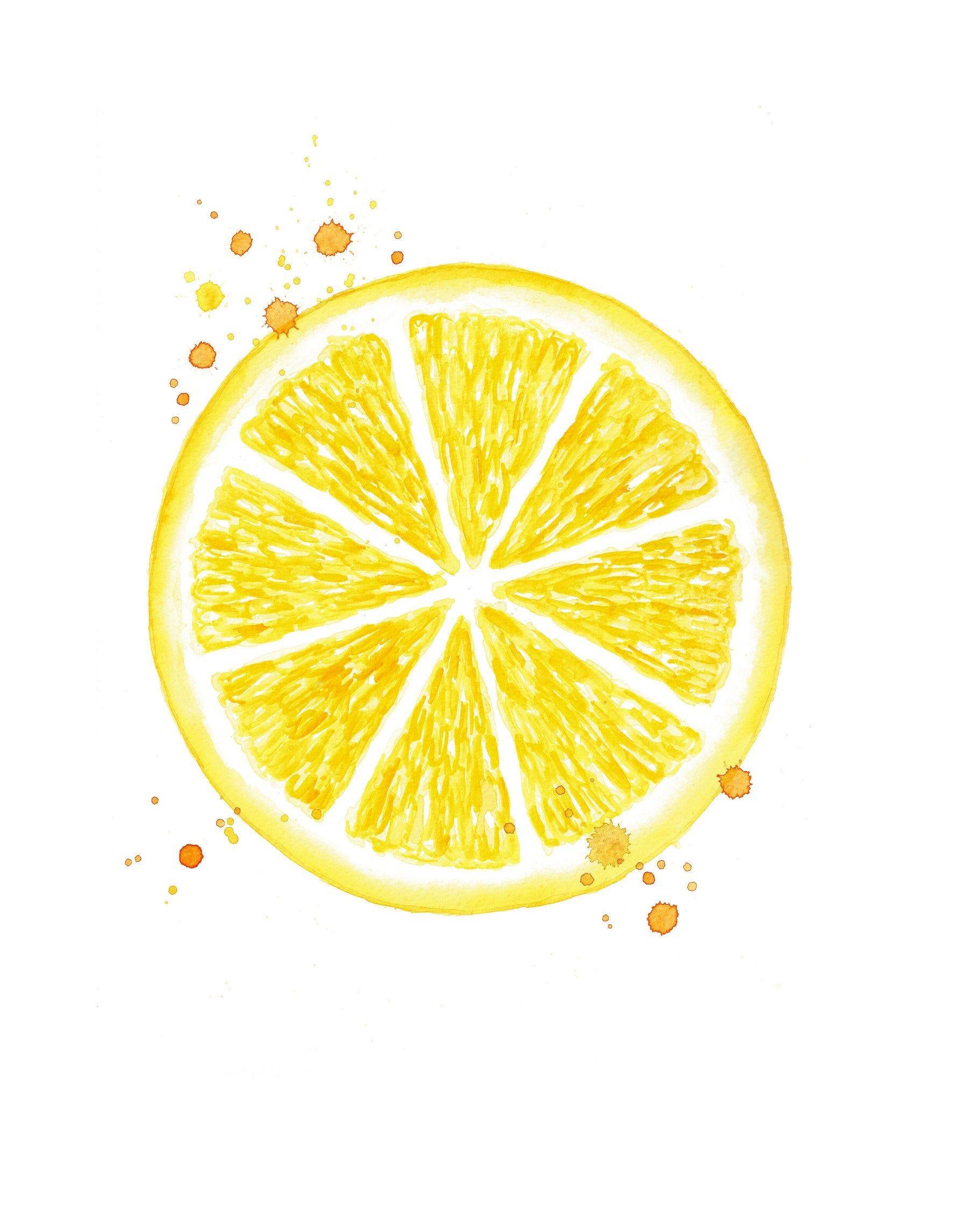 Photo of citrus print watercolor lemon print lemon watercolor kitchen wall decor watercolor fruit print kitchen painting citrus fruit art
