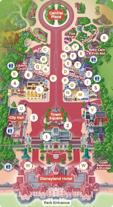 Mapa De Disneyland Paris Para Imprimir.Map Of Main Street U S A Dlp Guide Disneyland Paris
