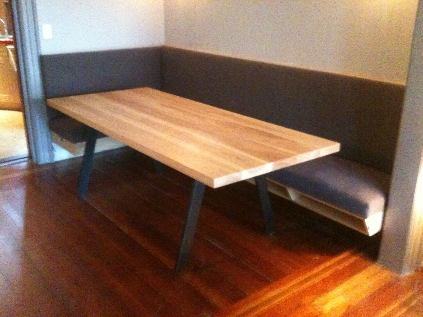Custom Made Dining Table And Banquette  Dining  Pinterest  All Custom Custom Made Dining Room Tables 2018