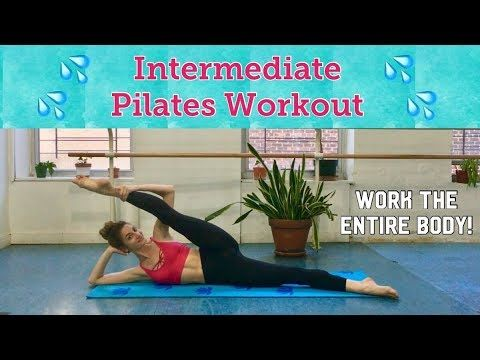 INTERMEDIATE PILATES CLASS | Full Body Workout - YouTube #pilatesworkoutvideos