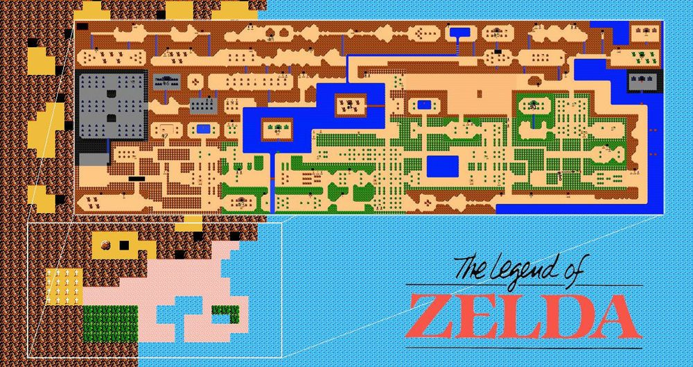 Nintendo Nes Legend of Zelda Link Hyrule Map Fridge Magnet 4\