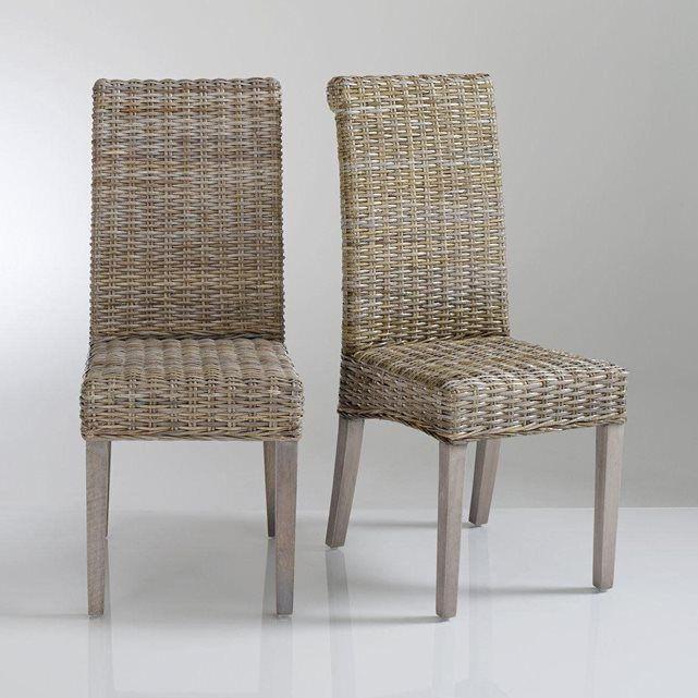 Chaise, kubu tressé, (lot de 2), Lunja Maison Bastos Pinterest - Devis Maison Neuve En Ligne