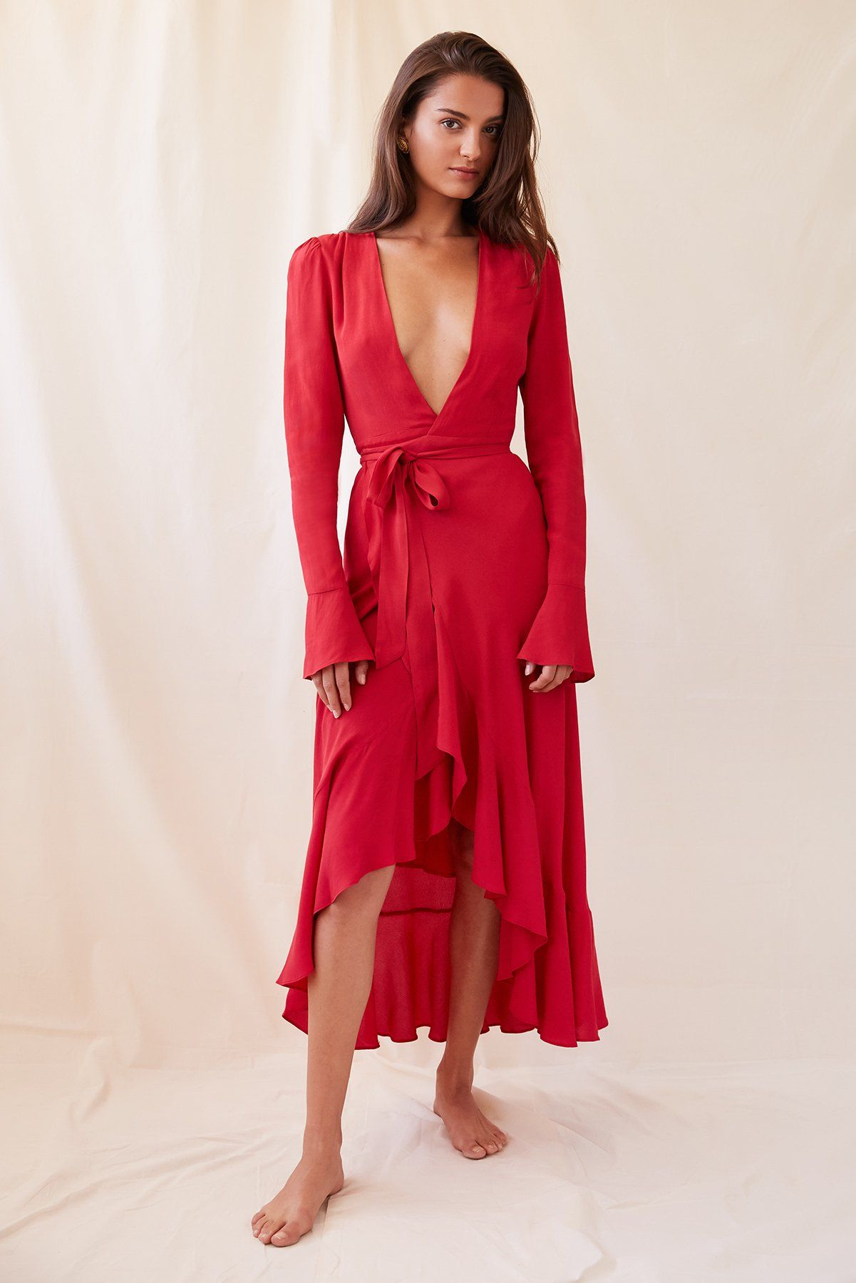 9eaf761cb0 Chloé Dress in Red | CLoThEs | Chloe dress, Dresses, Wrap dress