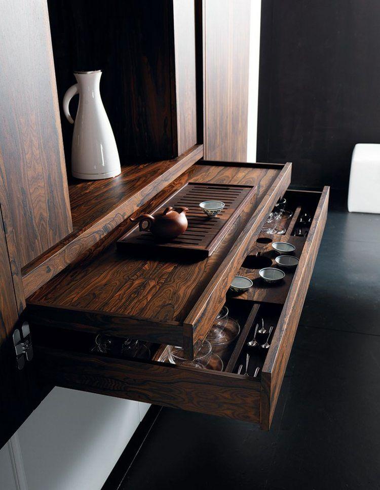 Ausziehbare Arbeitsplatte über eine Schublade | Mini Bar ...