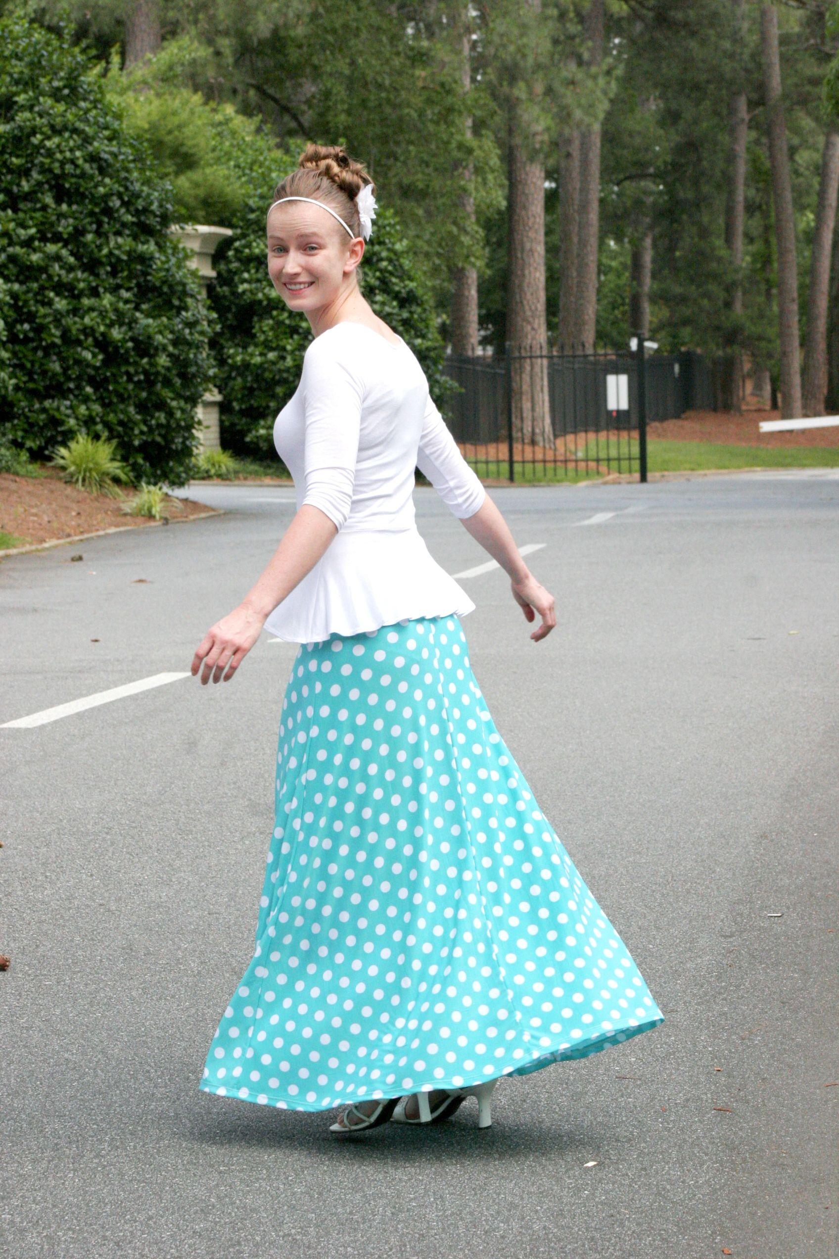 e0b592cadd317 Mint polka dot maxi skirts available in S-XL | Modest & Stylish ...