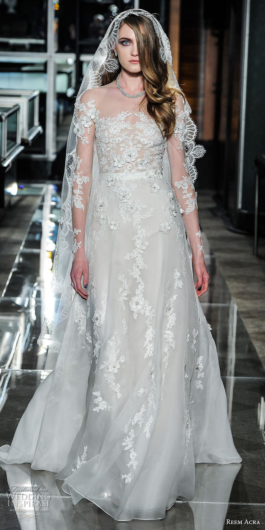 Reem Acra Spring 2018 Wedding Dresses New York Bridal Fashion Week Runway Show Wedding Inspirasi Wedding Dresses Wedding Dress Sizes Romantic Wedding Dress Lace