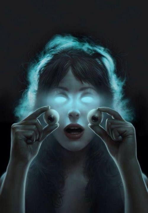 eye see you, dark art, illustration