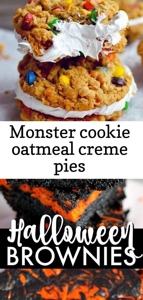 Monster cookie oatmeal creme pies #halloweenbrownies