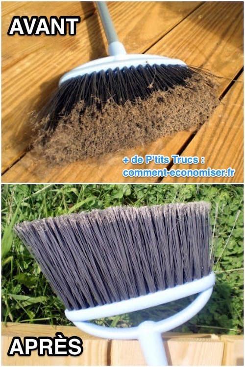 comment nettoyer votre balai facilement avec du vinaigre blanc besoin pinterest nettoyant. Black Bedroom Furniture Sets. Home Design Ideas