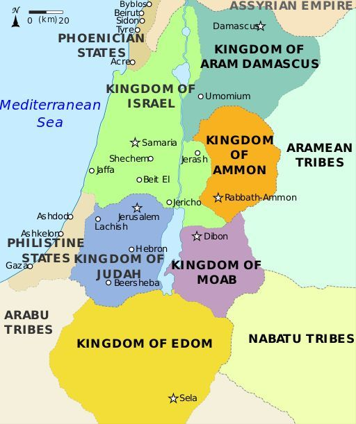 Map of Edom | Obadiah: When Saviours Shall Come to Mount Zion ...  Tribes Of Israel Map on